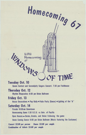 Homecoming poster, 1967