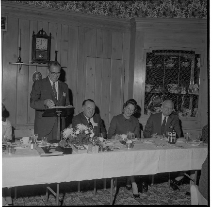 Series of photographs of the 1966 homecoming alumni banquet