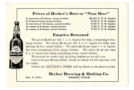Advertisement for Becker's Best (1 of 29), 1911