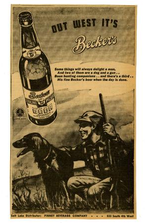 Advertisement for Becker's American Pilsner Beer (16 of 18), 1943