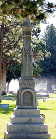 Logan cemetery headstone, 2