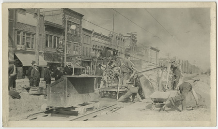 Construction of the Logan Rapid Transit Lines, 1909-1910<br />