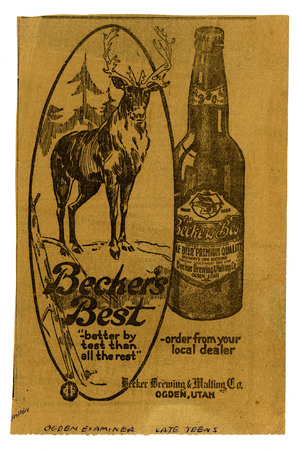 Advertisement for Becker's Best (12 of 29), c. 1915