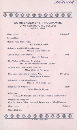 1906 UAC Commencement Program