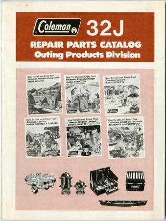 Coleman, Repair Parts, 1984