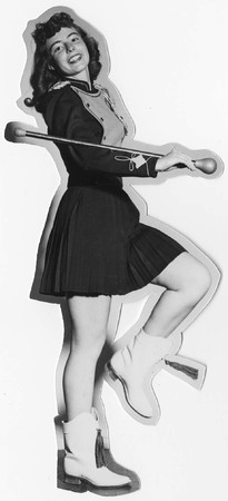 Marching band member, 1956
