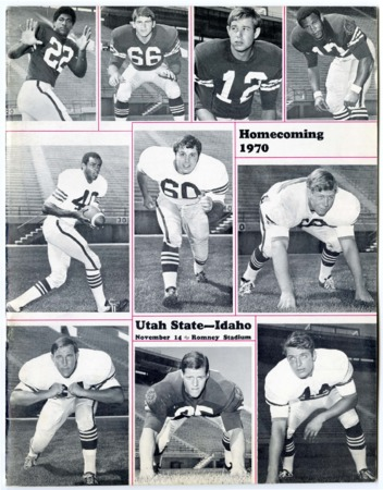 Football program - Utah State University vs Idaho, November 14, 1970