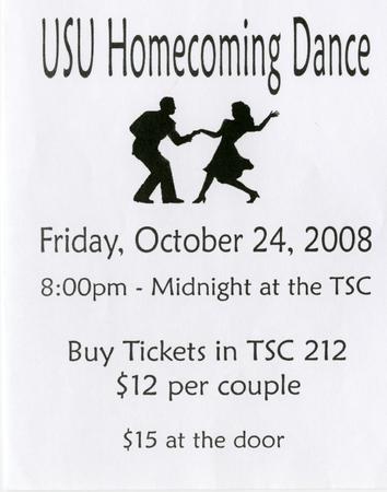 Homecoming dance flyer, 2008